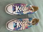 Converse All Star Tennis Shoes 8 6 Tropical Blue Pink Grey