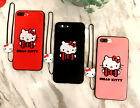 Cute Soft Hello kitty case cover Defender for Apple iPhone 8 8 Plus + Lanyard