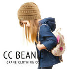 New CC Beanie Kids Twotone Beanie Mix Trendy Simple Winter Solid Cable Knit cc