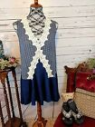70 off SALE Womens lace accent top tunic dress in Navy by UMGEE