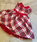 Gymboree 2T Toddler Girls Dress Christmas Holiday Red Green Plaid
