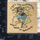 Rubber Stamp All Night Media Life Serious Jester Mary Engelbreit Rare HTF T205