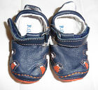 RILEYROOS Navy Orange Genuine Leather Baby Shoes Trainers 3 6 months New