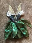 Girl Disney Store Zarina Pirate Fairy Green Dress Up Costume Size 5 6 With Wings