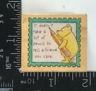 All Night Media Rubber Stamp Winnie the Pooh Tell a Friend you Care Rare T259