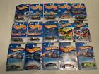 LOT OF 15 HOT WHEELS SINGLE CARS FROM THE 1990S AND 2000S BRAND NEW OLD STOCK