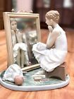 Norman Rockwell By Lladro Daydreamer 1411 Porcelain Figurine Spain Day Dreamer