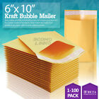 0 6x10 6x9 Kraft Bubble Mailer Self Seal Shipping Bag Envelope 2550100250