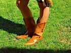 Cute Pair Of Dan Post Suede  Tooling Cowboy Cowgirl Western Boots 85M