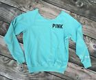 PINK Victoria Secret teal aqua blue sweatshirt sz small crew neck great shape