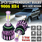 9006 LED Headlight Kit Low Beam for Jeep Grand Cherokee Commander 2006 2010 COB