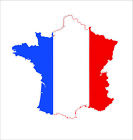 France French Vinyl Outside Wall Decal Macbbook Sticker Moto Map Flag Car Decor