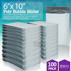 0 6x10 6x9 Poly Bubble Mailer Padded Envelope Shipping Bag 2550100250 Pcs
