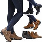 New Women TTw Black Tan Taupe Western Ankle Booties Riding Low Heel Boots