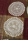 Vintage Hand Crocheted Doilies Off White 6