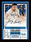 2017-18 Contenders LONZO BALL Auto RC White Jersey Autograph Variation Mint!