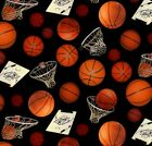 Sports Collection Basketballs Elizabeths Studio 100 cotton fabric by the yard