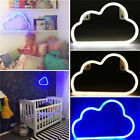 LED Neon Sign Night Light Cloud Wall Background Home Kids Bedroom Decoration