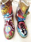 Revolution Art Piece Painted Resistance Protest Rally Boots Size 9