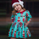 Infant Kids Baby Girls Cartoon Princess Party Dress Christmas Outfits Clothes