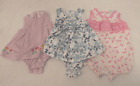 Lot of 3 Baby Girl Clothes Size 3 6 Months
