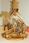 Hand made Olive Wood Nativity Scene set Gift from Holy Land 8x6 Free ship