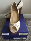 "Stuart Weitzman ""Pincho"" high heels shoes . Beige Indian Croc . Sz 8 M"