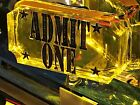 Fun House FH Pinball Machine ADMIT ONE TICKET LED mod (BALLY'S/WILLIAMS)