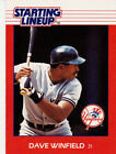 1988 Kenner Starting Lineup Dave Winfield New York Yankees Baseball Card