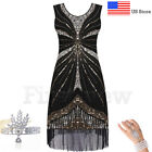 Roaring 20s 1920s Flapper Dress Vintage Great Gatsby Sequin Fringe Party Dresses