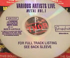 Various Artists Live Metal Vol. 1 CD Super Rare 1994 Anthrax Megadeth Sepultura