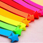 160pcs Origami Lucky Star Paper Strips Folding Paper Ribbons Colors New Pop