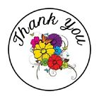 48 Thank You Butterflies  Flowers  ENVELOPE SEALS LABELS STICKERS 12 ROUND