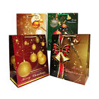 Small size Christmas paper gift bags Gloss12 Pieces Assortment 575X45X22