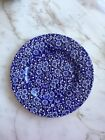 Queens China CALICO blue luncheon plate 8 5/8 in
