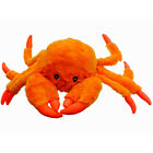 JOLLY PETS Tug a Mal Crab Squeaky Tug Dog Toy Small 3 Inches