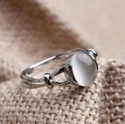 Women RainBow Moonstone Opal Jewelry 925 Silver Twilight Saga Bellas Ring Gifts
