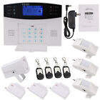 Wireless LCD SMS GSM  Burglar Fire Alarm System Auto Dialer Home Security Safe
