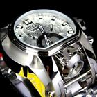 Invicta Reserve Bolt Zeus Magnum Swiss Steel Silver Dual Dial 52mm Watch New