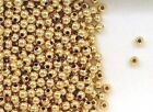 Gold Filled Round Spacer Beads 3mm Seamless for Beading or Jewelry Making