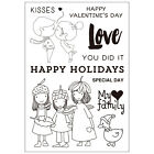 Lovely Girls Clear Stamps for DIY Scrapbook Decor Card Making Crafts Supplies