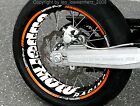 Wheel Sticker Supermoto KTM SMC 690 LC4 660 625 640 EXC SMR 450 560 RIm Decals