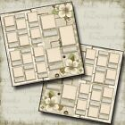FAMILY TREE Premade Scrapbook Pages EZ Layout 566