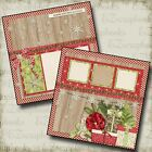 MAKING CHRISTMAS MEMORIES Premade Scrapbook Pages EZ Layout 573