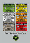 United States Zombie Hunting Permit Sticker Decal USA Outbreak Walking Dead