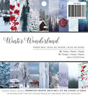 American Crafts Holiday Single Sided Paper Pad Winter Wonderland