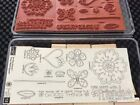 Stampin Up Time Well Spent Two Step Stamp Set Unmounted New