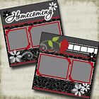 HOMECOMING Premade Scrapbook Pages EZ Layout 2195