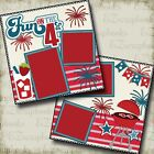FUN on the 4th Premade Scrapbook Pages EZ Layout 2138