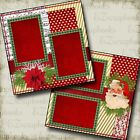 SANTA Premade Scrapbook Pages EZ Layout 638